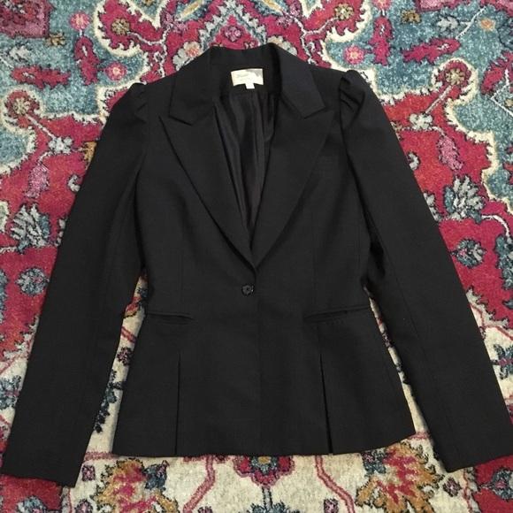 Elizabeth and James Jackets & Blazers - Elizabeth & James Charcoal puff sleeve blazer
